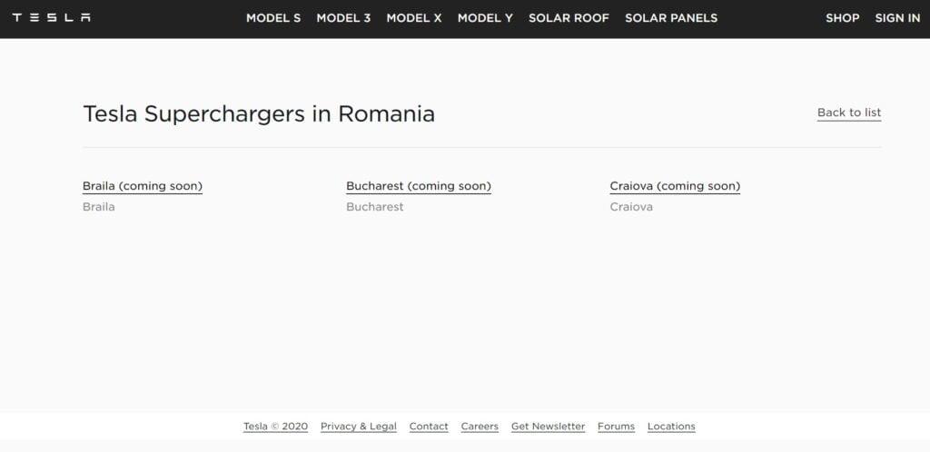 Statii de incarcare Tesla vor fi disponibile si in Romania